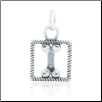 Box Bone Charm - Sterling Silver Pet Memorial Jewelry