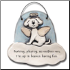 Dog in Heaven Barking, Playing up in Heaven Ceramic Ornament for Dog Lover