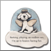 Barking, Playing an Endless Run Ceramic Magnet for Dog Lover