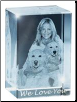 Personalized Photo Crystal Cube - Large