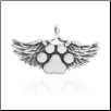 Paws in Heaven Pet Memorial Pendant - Sterling Silver Dog Lover Jewelry