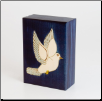 """A Polish Box Collection"" - Keepsake or Small Pet Urn (with Dove)"