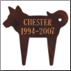 Silhouette Dog Memorial Marker