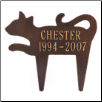 Silhouette Cat Memorial Marker