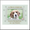 A True Friend Pet Memorial Photo Frame