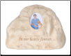 Serenity Heart Rock Urn - In Our Hearts Forever