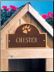 Pet Paw Mini Arch Memorial Marker - Wall