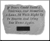 PERSONALIZED Garden Memorial Stone with Poem - 'If Tears Could Build . . . . . .'