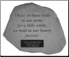 PERSONALIZED Garden Memorial Stone with Poem - 'Those We Have . . . . .'