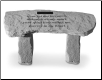 PERSONALIZED Garden Memorial Bench with Poem - 'Gone But Not Forgotten . . . . '