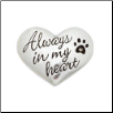 Always In My Heart - Pewter Heart Memorial Pocket Reminder