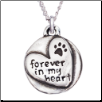 Forever in My Heart - Sterling Silver Necklace