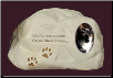Cat Paw Prints Rock Urn