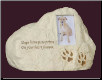 Dog Paw Prints Rock Urn