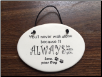 You'll Never Walk Alone - Dog Memorial Plaque