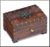 """A Polish Box Collection"" - Medium Chest Pet Urn (floral motif)"