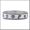 Love & Destiny Ring - Sterling Silver Dog Lover Jewelry