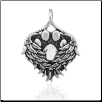 Heaven Sent Pet Memorial Pendant - Sterling Silver Dog Lover Jewelry