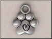 Puppy Paws Pendant - Sterling Silver Dog Lover Jewelry