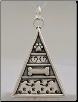 Pyramid of Life Pendant - Sterling Silver Pet Memorial Jewelry