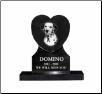 Photo Pet Distinctive Heart Grave Marker