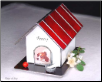 Stained Glass Doghouse Pet Urn