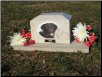 Photographic Marble Garden Urn and Pet Memorial