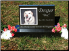 Premium Black Granite Photo Tile Pet Burial Marker or Pet Memorial