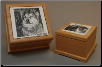 Alderwood Pet Urn with Photo Tile