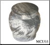 Black and White Marble Pet Urn - Large