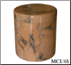 Beige Veined Marble Pet Urn - Large