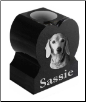 Black Granite Pet Memorial Vase