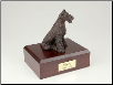 Airedale Bronze Dog Breed Figurine Urn