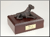 Boxer, Ears Down Bronze Dog Breed Figurine Urn