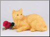 Orange Shorthair Cat Figurine Garden Urn