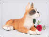 Boxer, Ears Up, Fawn & White Dog Figurine Garden Pet Urn