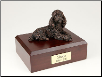 Poodle, Laying Bronze Dog Breed Figurine Urn