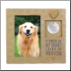 Memorial Photo Pet Tag Frame - A Piece of My Heart