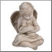 Angel Cherub with Dog Figurine
