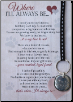 Dog Memorial Keychain & Card
