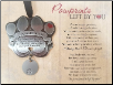 Pawprints Left By You Memorial Pewter Pet Ornament