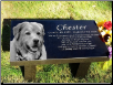 Memorial Garden Bench in Black Granite