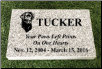 Gray Granite Rectangular Headstone