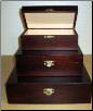 """A Polish Box Collection"" - Brown Mahogany Wooden Pet Urn"