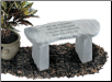 Garden Memorial Stone Bench - 'Gone yet not forgotten . . . . . .'