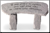 Garden Memorial Stone Bench - 'If You Pause . . . . . .'