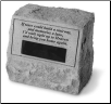 PERSONALIZED Garden Memorial Stone Urn - 'If Tears Could Build . . . . . . .'