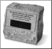 PERSONALIZED Garden Memorial Stone Urn - 'Our Hearts Will Ache . . . . . . . . .'