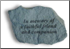 Garden Accent Rock - 'In Memory . . . . . . .'