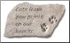 Garden Accent Rock with Quote - 'Cats Leave . . . . . . . '